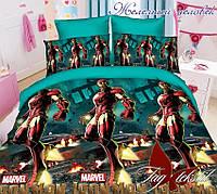 Комплект постельного белья для детей Железный человек (ДП евро-049)