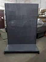 Стеллаж перфорированный б/у, металлический перфорированный стеллаж б.у., фото 1