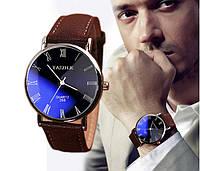 Мужские часы наручные коричнево-синего цвета (ч-11)