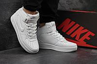 Кроссовки мужские Nike Air Force. Кожа 100% Белые. Размер 41 42 43 44 45 46