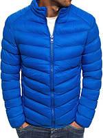 Мужская демисезонная куртка голубая 029