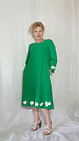 Платье женское миди однотонное в девяти цветах макси с ручной росписью  Сукня жіноча міді
