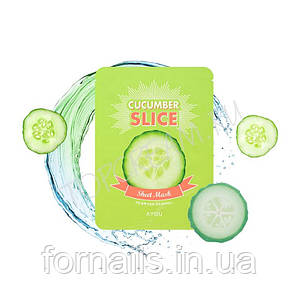 A'PIEU Cucumber Slice Sheet Mask, Маски-слайсы Огурец 601