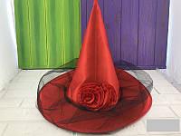 Шляпа колпак Роза с вуалью
