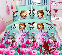 Комплект постельного белья для детей Принцесса София (ДП евро-052)