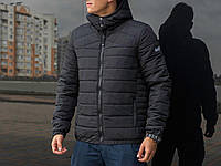Молодежная мужская ветровка весенняя Pobedov Jacket Rise  (Black)