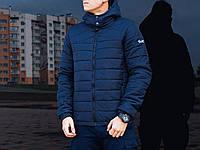 Молодежная мужская ветровка весенняя Pobedov Jacket Rise  (Navy)