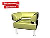 Кресло из кожзама для офиса светло-зеленое