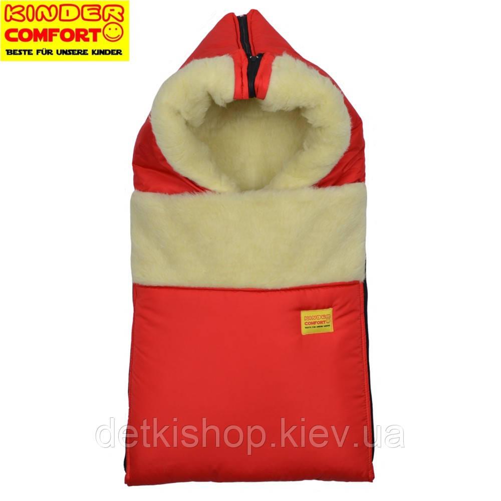 Конверт на овчине Kinder Comfort Grand Rot (красный)