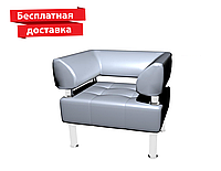 Кресло из кожзама для офиса белое, фото 1