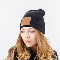 """Женская шапка """"Нинель"""" черный. Молодежные шапки. Шапки на зиму."""