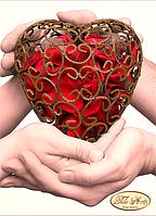 Схема для вышивки бисером 13*18см Одно сердце на двоих ТД-014 Тела Артис