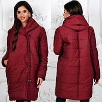 Женская куртка  длинная на пуговицах 039