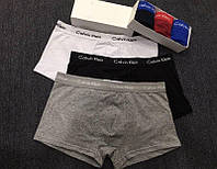 КЛАССИКА! Calvin Klein 365\5 (Кельвин) Мужские трусы - БОКСЕРКИ, мини-шорты на широкой резинке Хлопок
