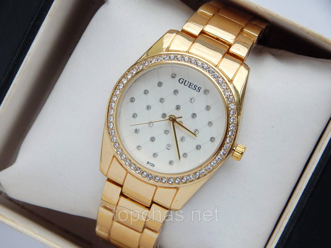 5ab75053 Женские кварцевые наручные часы Guess b133, сетка из страз - Top Chas -  Интернет магазин