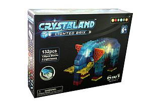 """Конструкторсветящийся на 132детали""""Животные""""Crystaland lighted brix""""6 в 1"""" 99014"""