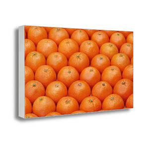 Настенная картина на холсте с принтом Новогодние мандарины