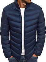 Мужская демисезонная куртка синяя 030