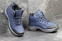 Ботинки  мужские Ecco (синие), ТОП-реплика, фото 1