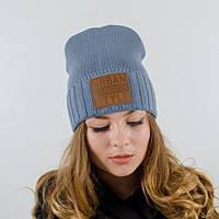 """Зимняя шапка """"Лакки"""" серый. Женские шапки. Молодежные шапки."""