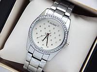 Женские кварцевые наручные часы Guess b 133 серебро, сетка из страз, фото 1