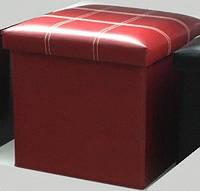 Банкетка Для Посетителей, Пуф - Короб складной темно-красный