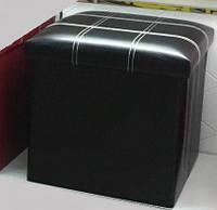Банкетка Для Посетителей, Пуф - Короб складной черный