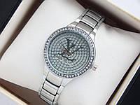 Женские кварцевые наручные часы Louis Vuitton Diamond серебристые, фото 1
