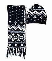 Детский Набор: шапка, шарф для девочки 2-6 лет