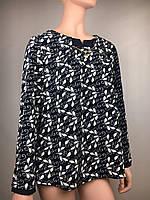 Изящная блуза с поясом Батал код 8-листва