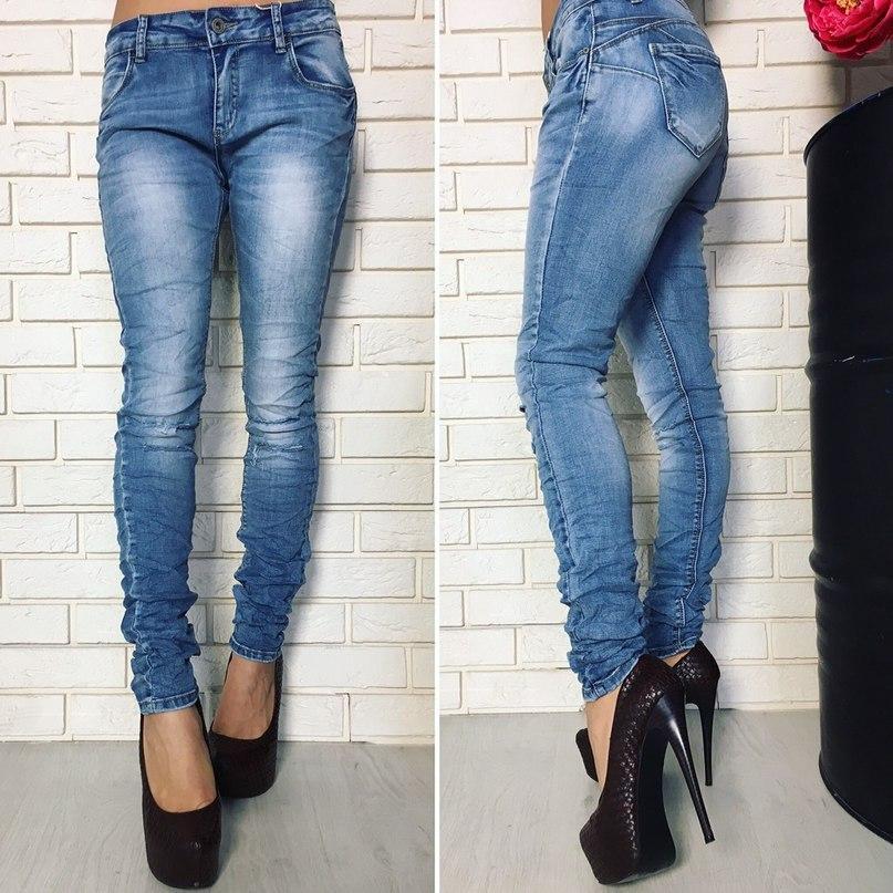 3456ec338428 Женские стрейчевые джинсы узкие светлые Польша - купить по лучшей цене в  Одессе от ...