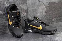 Мужские кроссовки Nike Flywire чорные с золотом