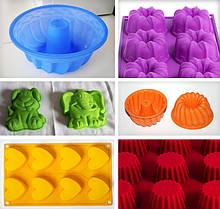 Формы для выпечки кексов и тортов, силиконовые