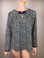Изящная блуза с поясом Батал код 8 ромашка размер 52 54 56 58