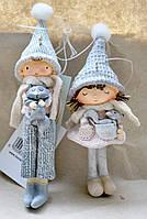 Декоративная новогодняя игрушка-подвеска Детки 2 шт.