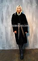 Новинка! Шуба-пальто из аукционного меха американского бобра, длина 120см, 46р