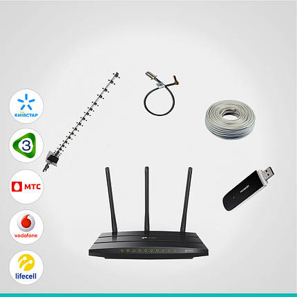 """Комплект 3G GSM/UMTS """"Оптимальный"""" (Utel, Lifecell, Vodafone, Киевстар) до 42 Мб/с, фото 2"""
