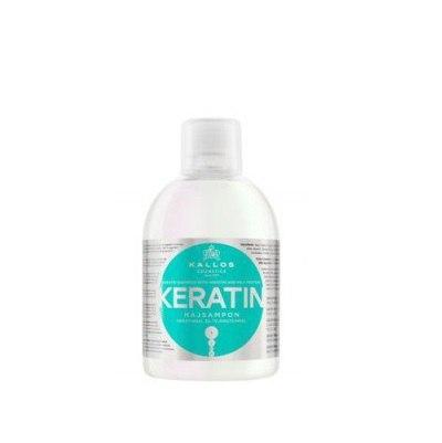 Шампунь Kallos Keratin 1000мл с кератином и молочным протеином