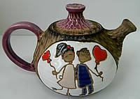 """Керамічний чайник """"Закохані"""" Керамический чайник """"Влюбленные"""""""