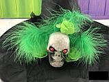 Колпак карнавальный Череп с пером, фото 2