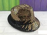 Шляпа диско шляпа Твист с пайетками  ЦВЕТА РАЗНЫЕ, фото 4