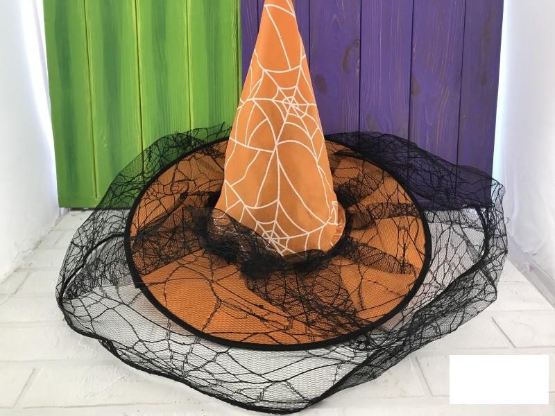 Колпак ведьмы паутина с вуалью - Бум маркет в Харькове