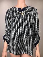 Изящная блуза с поясом Батал  размер 52 54 56 58