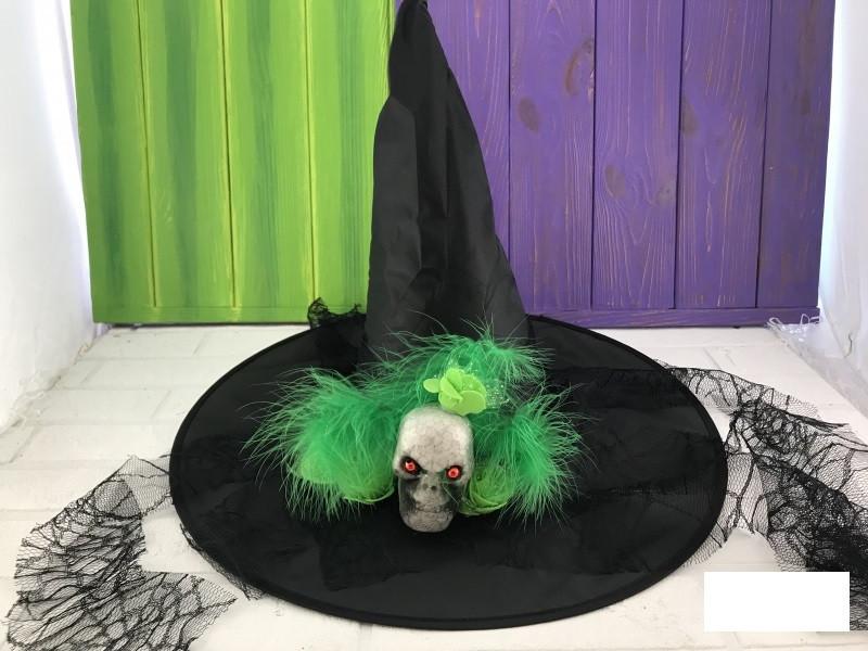 Колпак карнавальный Череп с пером