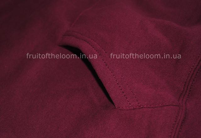 Бордовая  женская классическая толстовка с капюшоном