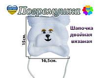 Детская шапочка (двойная вязка)-Различные расцветки