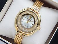 Женские кварцевые наручные часы Swarovski CRYSTALLINE OVAL, золото