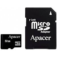 Карта памяти Apacer microSDHC 32GB Class 4+adapter