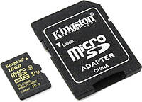 Карта памяти KINGSTON microSDHC 16 Gb UHS-I+SD ad U3 (R90, W45MB/s)