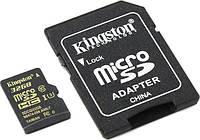 Карта памяти KINGSTON microSDHC 32 Gb UHS-I+SD ad U3 (R90, W45MB/s)